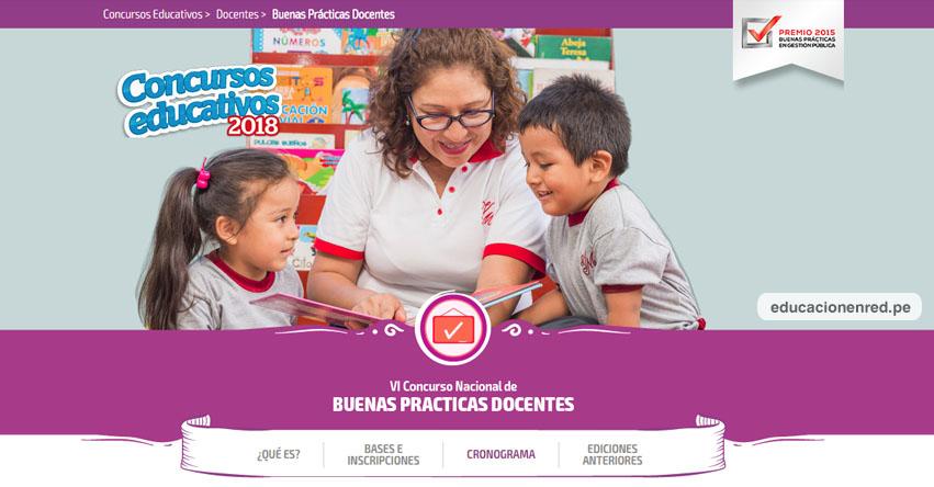 MINEDU: VI Concurso Nacional de Buenas Prácticas Docentes - Cierre de inscripciones: 28 de Setiembre - www.minedu.gob.pe