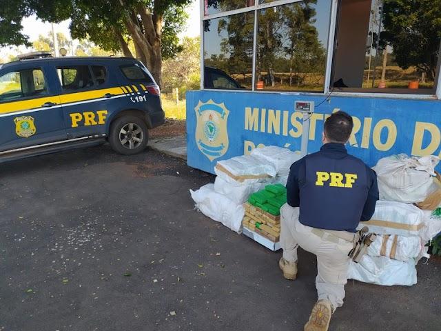 PRF apreende mais de 300 quilos de maconha no Paraná