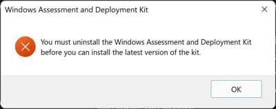 إصدارات Windows ADK والتنزيلات