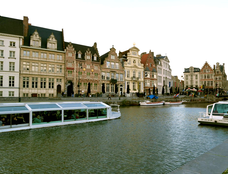 Graslei and Korenlei in Ghent