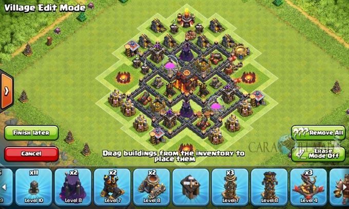 pertahanan terbaik untuk base war th 6 di clash of clans 26