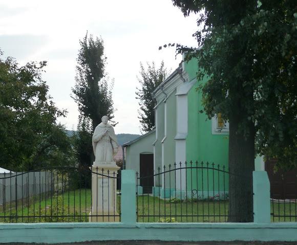 Лужаны. Костёл святого Яна из Дукли. 1914 г. Памятник св. Яну
