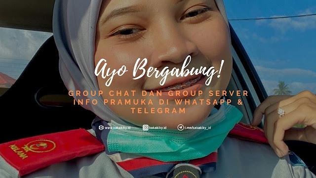 gabung grup whatsapp pramuka dan telegram pramuka