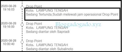 Paket Gagal Dikirim Sudah Melewati Jam Operasional Drop Point