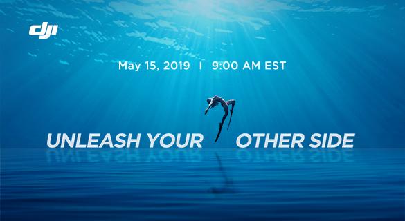 Объявление о презентации нового продукта DJI 15 марта 2019 года