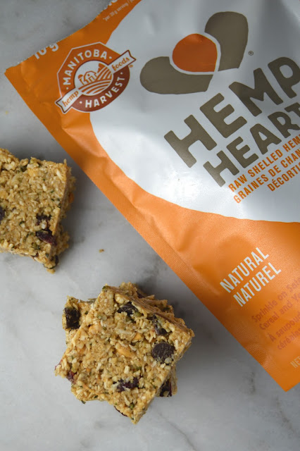 No Bake Hemp Hearts and Coconut Squares