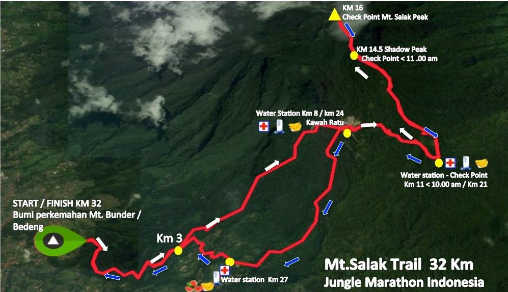 Mt. Salak Trail 32K Route 2018