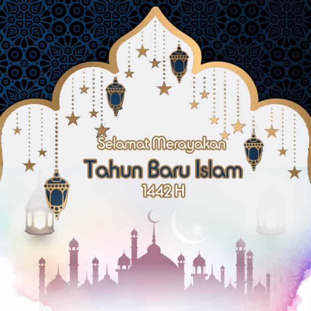 gambar ucapan tahun baru islam 1442