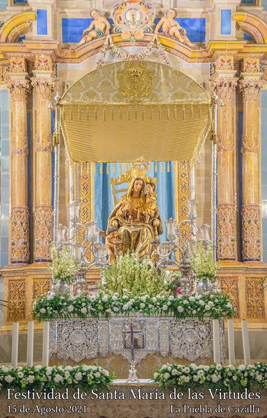 Cartel y programa de Festividad de Santa María de las Virtudes 2021 de La Palma del Condado