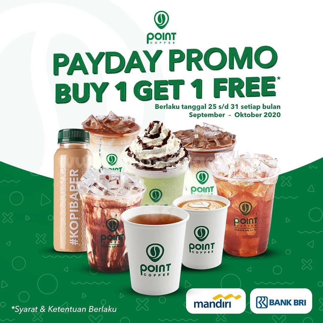 POINT COFFEE PAYDAY Promo Buy 1 Get 1 Free