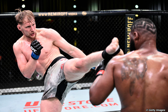 Alexander Volkov Kicks Curtis Blades UFC On ESPN 11