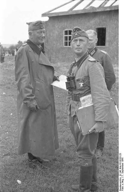 Lieutenant Colonel Hans von Ahlfen and other officers in the Ukraine, 7 September 1941 worldwartwo.filminspector.com