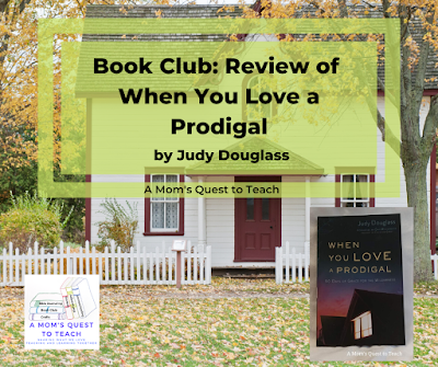 photo of house from Canva; book cover of When You Love a Prodigal
