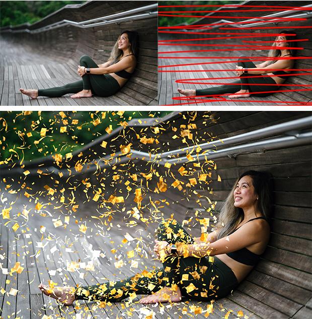 Gif Animated Confetti Glitter Effect Photoshop Action