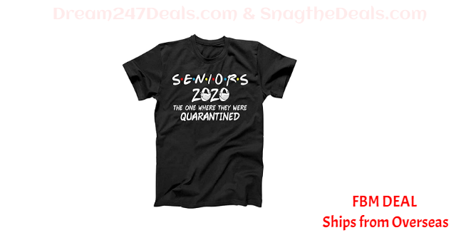 70%OFF Seniors 2020 The One Where They were Quarantined Social Distancing T-Shirt