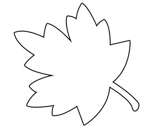 Hình tô màu cái lá cho bé mầm non