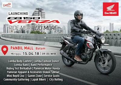 Launching Honda CB150 Verza Batam