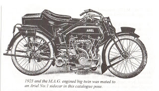 1923 MAG engined Ariel v twin combination