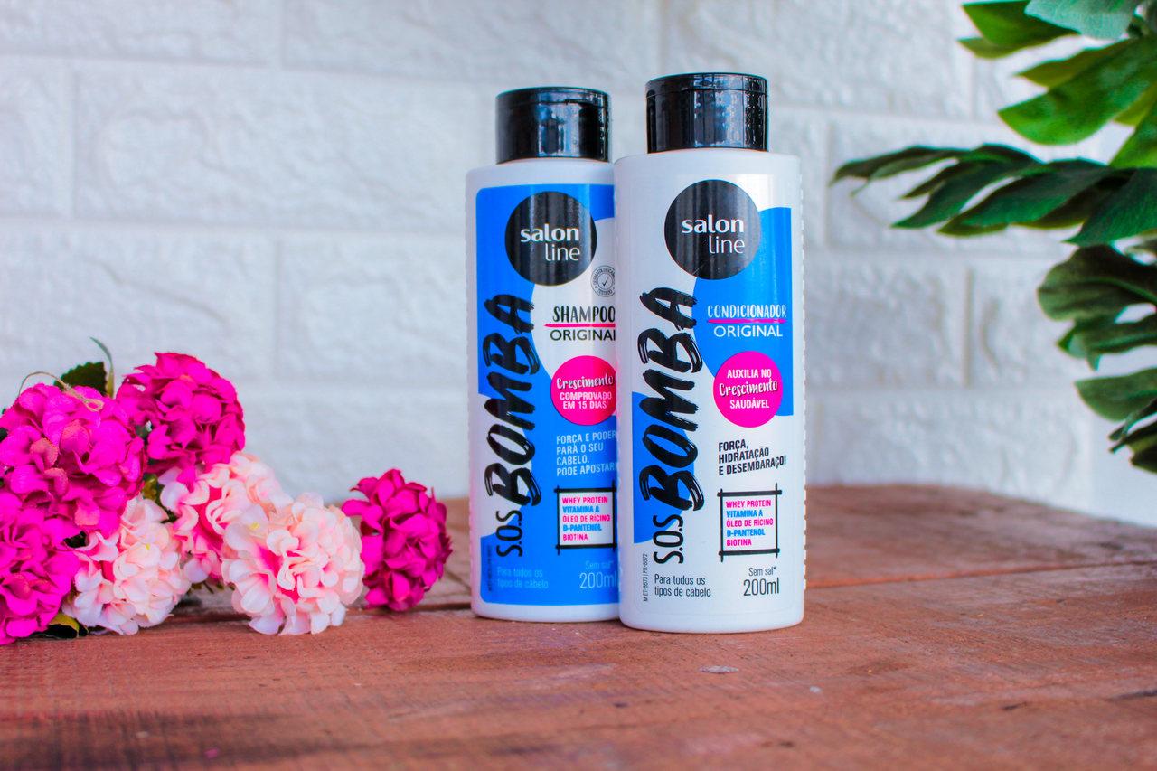 Resenha: Shampoo e Condicionador SOS Bomba Original da Salon Line