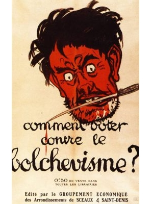 Cover of an anti-bolshevik brochure, 1919  by Adrien Barrière (1877 - 1931)