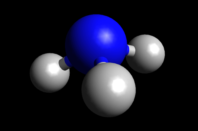 NH3 Molecule Ball and Stick