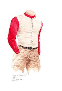 1892 Alabama Crimson Tide football uniform original art for sale