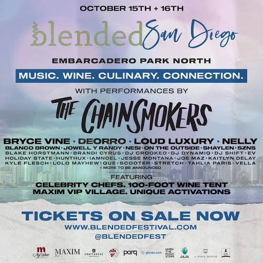 Don't miss the Blended Festival featuring live performances by The Chainsmokers, Nelly & More!