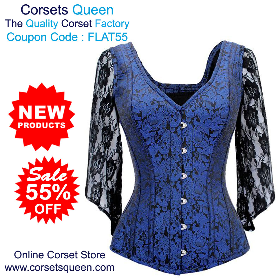 30781b884f7 New Brocade Corset Sale - Flat 55% OFF Nikita Brocade Shoulder Straps  Overbust Steel Boned Corset USA- https   tinyurl.com yc3eszwc