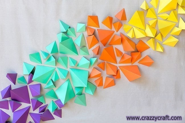 Wall Paper Decoration Design : Easy paper wall decoration idea crazzy craft