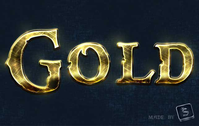 Create a Shiny, Gold, Old World Text Effect in Photoshop @ Webdesignerpad
