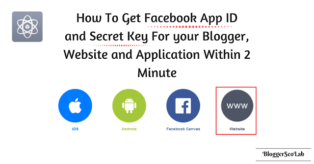 Facebbok Appid and secret key for WordPress and Blogger