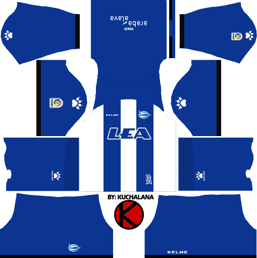 4d6794523 Deportivo Alavés 2017/18 - Dream League Soccer Kits - Kuchalana