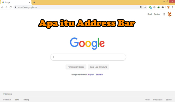 Apa itu Address Bar