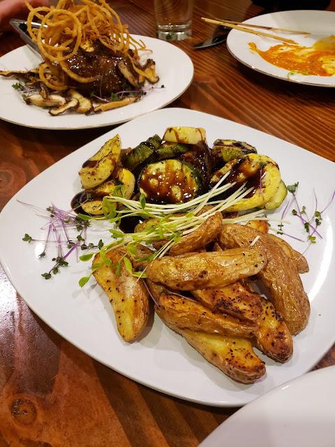 grilled veggies & fingerling potatoes John Serock Catering