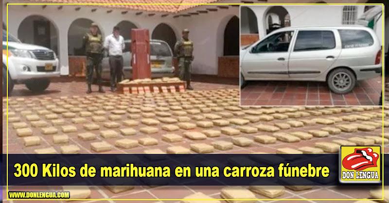300 Kilos de marihuana en una carroza fúnebre