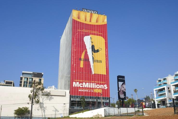 Giant McMillion$ HBO billboard