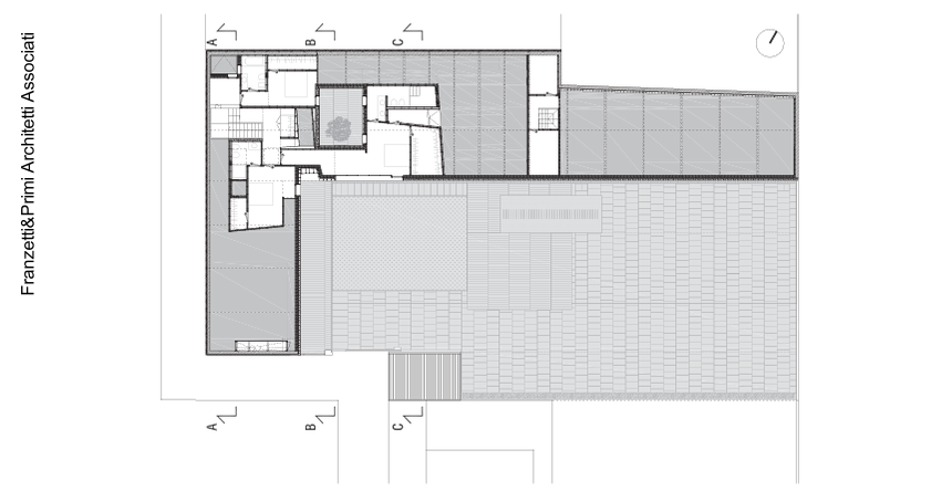 Plano de arquitectura de planta superior de la casa