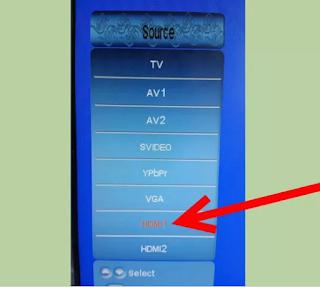 Cara menghubungkan android ke TV LCD