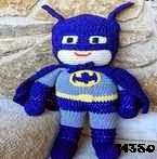 patron gratis batman amigurumi, free amigurumi pattern batman