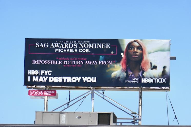 I May Destroy You SAG Awards nominee billboard