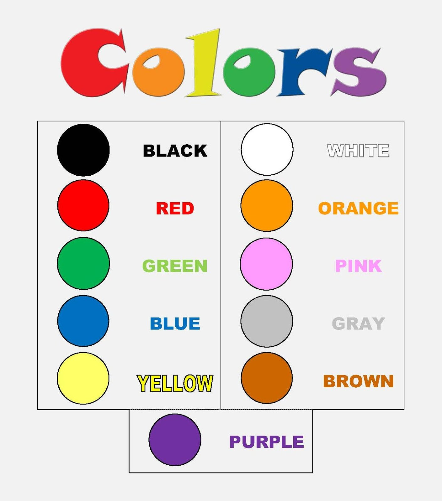 Carmelitas English Unit 1 Colors 3years Old