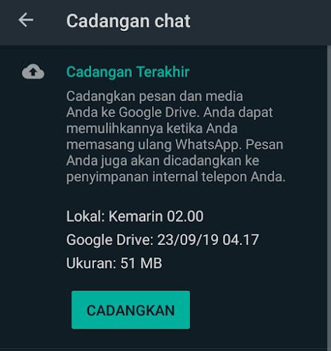 Cara Mencadangkan Chat Whatsapp Ke Google Drive Atau Email