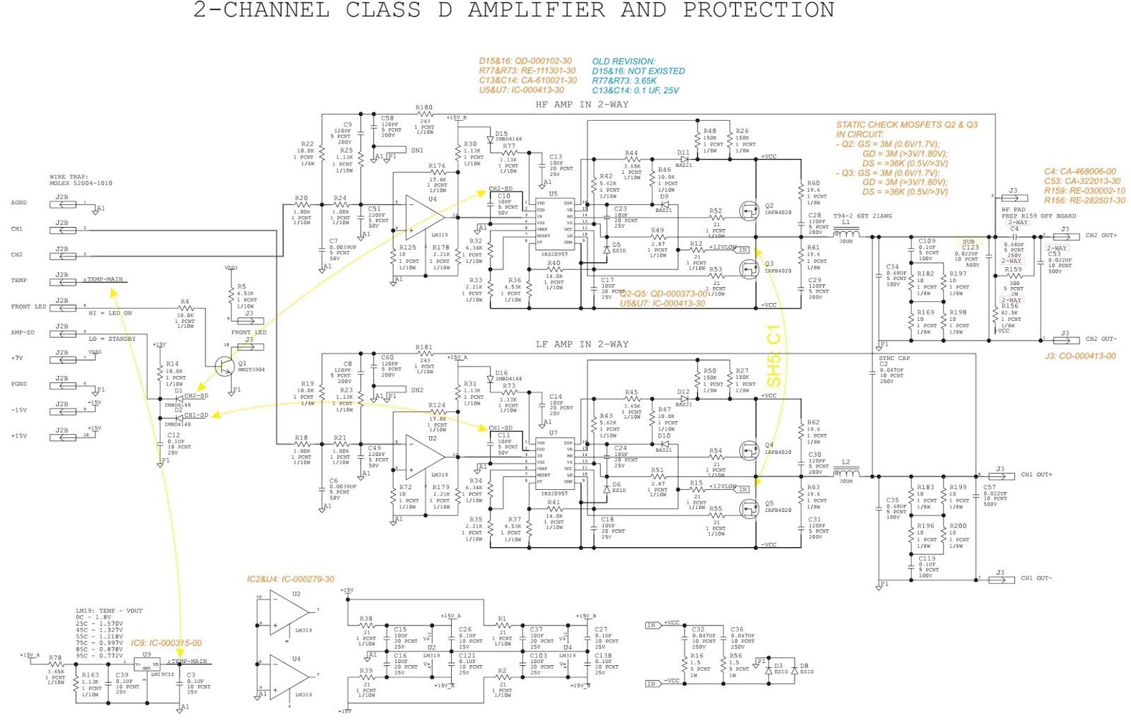 Stereo Amplifier Circuit Diagram And Descriptions Using Irfb4020 Class G Power