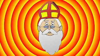 Geel rode Sinterklaas achtergrond