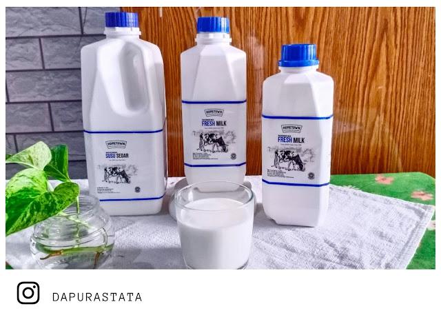 Camilan untuk anak-anak menggunakan Fresh Milk Home Town