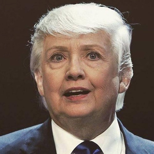 hillary clinton donald trump hair