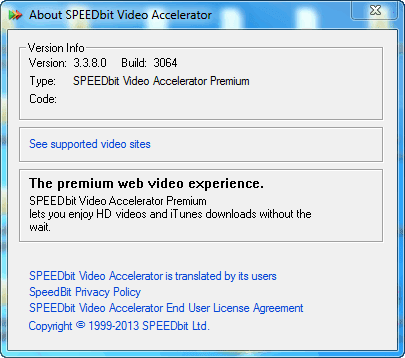 speedbit video accelerator 3.3.7.8 build 3061