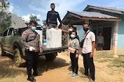 Petugas PAM TPS Polsek Lumar Kawal Pendistribusian Kotak & Surat Suara ke KPPS