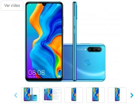 Smartphone Huawei P30 Lite 128GB Azul 4G