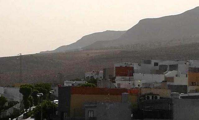 Incendio de pastos en Agüimes, Gran Canaria
